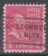 USA Precancel Vorausentwertung Preo, Locals Minnesota, Cromwell 712 - Vereinigte Staaten