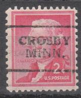 USA Precancel Vorausentwertung Preo, Locals Minnesota, Crosby 701 - Vereinigte Staaten