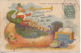 06 NICE  Carnaval 1907 Char De La Musique  Carte Illustrée - Carnaval