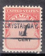 USA Precancel Vorausentwertung Preo, Locals Minnesota, Crystal Bay 841 - Vereinigte Staaten