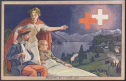 CPA - (Illustrateurs) Souvenir Du 1er Aout 1916 - Croce Rossa
