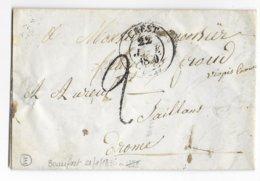 1830 - DROME - LETTRE De BEAUFORT Avec BOITE RURALE E + T13 De CREST => SAILLANS - Marcophilie (Lettres)