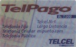 Venezuela, TELCEL-030-2, Servicios Telpalgo (3D), (Tridimensional), 2 Scans. - Venezuela