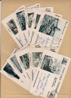 AFRIQUE DU SUD :  Entiers Postaux  : Lot De 10 Cartes Postales Oblitérées  Avec Monuments - South Africa (...-1961)