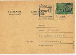 Postcard Stationery (Coat Of Arms) - Liechtenstein