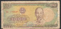 VIETNAM P106b 1000 DONG 1988 #VD     FINE NO P.h. - Vietnam