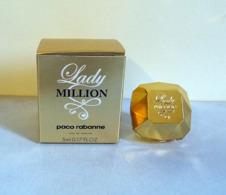 """Miniature  """"LADY MILLION""""  De PACO RABANNET Eau De Parfum  5 Ml Dans Sa Boite - Modern Miniaturen (vanaf 1961)"""