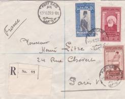 EGYPTE : Divers Dont Farouk Sur Recommandé De 1929 Pour Paris .CaD De Port-Saïd - Egypt