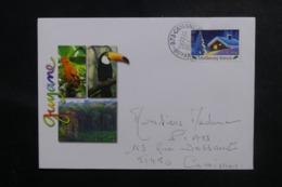 FRANCE - Affranchissement De Cayenne Sur Enveloppe Illustrée Pour La Métropole En 2002 - L 47021 - Storia Postale
