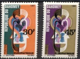 Dahomey 257/258 ** MNH. 1967 - Benin – Dahomey (1960-...)