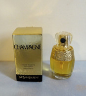 "Miniature Spray  ""CHAMPAGNE""  D'YVES ST LAURENT Eau DeToilette 7,5 Ml Dans Sa Boite - Modern Miniaturen (vanaf 1961)"