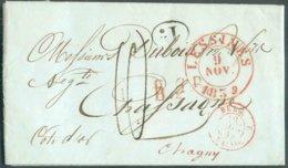 LAC De LESSINES Le 9 Novembre 1839 + Griffe Grattée (L.P.)B.2.R. Vers Chagny Et Décime Rural (1.d.). - TB - 14734 - 1830-1849 (Independent Belgium)