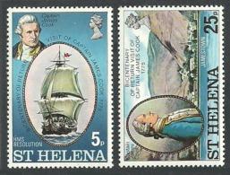 ST HELENA 1975 SHIPS EXPLORERS CAPTAIN COOK SET MNH - St. Helena