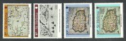ST HELENA 1981 EARLY MAPS SHIPS SET MNH - St. Helena