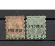 Lot Trinidad&Tobage VII  2x Specimen - Trinidad & Tobago (...-1961)