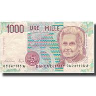 Billet, Italie, 1000 Lire, KM:114a, TTB - [ 2] 1946-… : Repubblica
