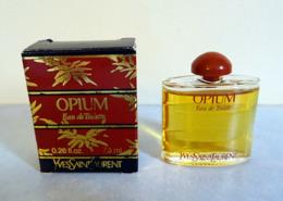 "Miniature  ""OPIUM""  D'YVES ST LAURENT Eau DeToilette 7,5 Ml Dans Sa Boite - Modern Miniaturen (vanaf 1961)"