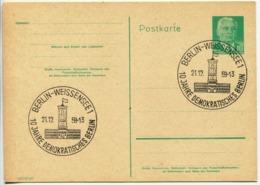 Postcard Stationery (W.Pieck, 1958) - [6] République Démocratique