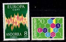 Europa Liechtenstein 1960 Et Andorre Espagnol 1972  Neufs ** MNH. TB. A Saisir! - Europa-CEPT