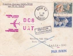 SENEGAL : Première Liaison Dakar Paris Par DC 8 Du 10 Septembre 1960 - Senegal (1960-...)
