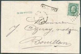 N°30 - 10 Centimes Vert, Obl. Ambulant LP.E.3. Sur Lettre De BRUXELLES Le 16 Mai 1872 Vers Bouillon. - TB  - 14739 - 1869-1883 Léopold II