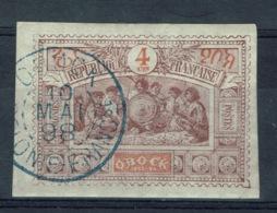 """Obock (French Somaliland), 4c., Warriors, 1894, VFU superb Postmark """"OBOCK"""" - Obock (1892-1899)"""