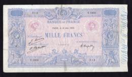 France - 1000 Francs Bleu Et Rose Du 16/06/1925 - 1 000 F 1889-1926 ''Bleu Et Rose''