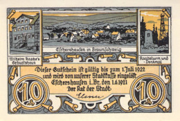 10,25,75 Pfg. 1 + 2 Mark Satz Stadt Eschershausen B. Braunschweig UNC (I) - [11] Lokale Uitgaven