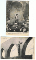 Foucaucourt / Lot De 2 CPA / Ruines De L'Eglise WW1 - Autres Communes