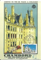 Carte Maximum - France - Chateau De Chambord - Cartoline Maximum