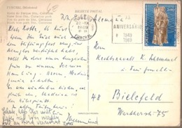 Portugal &  Marcofilia, Funchal, Sta. Catarina Park, Bielefeld Germany 1969 (3) - Lettres & Documents