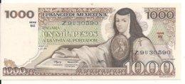 MEXIQUE 1000 PESOS 1978 AUNC P 70 A - Mexico
