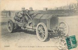 CPA 76 Circuit De Dieppe Minoïa Sur Voiture Isotta Fraschini  Course Automobile Pilote - Sport Automobile