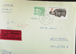 DDR: V-Brief  In MiF  Aus Leipzig (018) Vom 27.06.84 Nach Dresden Mit 1.- M Kampfgruppe Aus Block 72 Knr: 2824 Ua. - [6] República Democrática