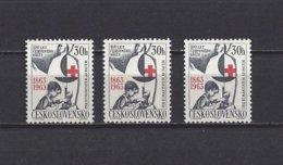 Tchécoslovaquie:  1283 ** (3x)  Croix-Rouge - Tchécoslovaquie