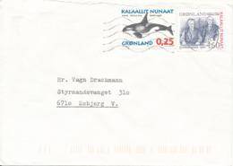 Greenland Cover Sent To Denmark 2009 - Storia Postale