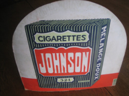 Ancien Carton  Publicitaire Original CIGARETTES JOHNSON 321 - Plaques En Carton