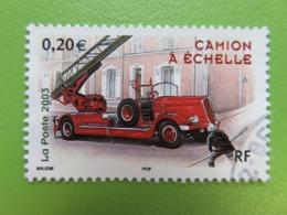 """Timbre France YT 3611 - Série """"Collection Jeunesse"""" - Véhicules Utilitaires - Camion De Pompiers à échelle - 2003 - France"""
