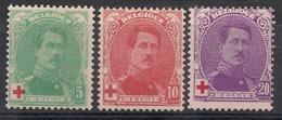 Belgique - Timbres COB N° 129 à 131- Au Profit De La Croix-Rouge - Neufs Sans Charnières ** - à 15 % - 1914-1915 Red Cross