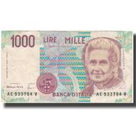Billet, Italie, 1000 Lire, KM:114c, TB+ - [ 2] 1946-… : Republiek