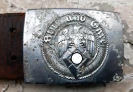 Cinturone Tedesco Nazista Per HITLERJUGEND (HJ) Con Fibbia In Alluminio Marcata (GERMANIA WW2) - Equipement