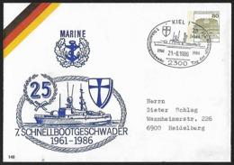 1986 - DEUTSCHLAND - Cover [Stationary] + Michel 1140 [Wilhelmsthal] + KIEL - [7] République Fédérale