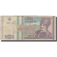 Billet, Roumanie, 5000 Lei, 1992, KM:103a, B+ - Roemenië