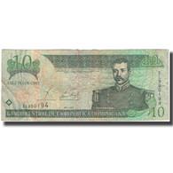 Billet, Dominican Republic, 10 Pesos Oro, 2002, KM:168b, TB - Dominicana