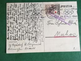 Suomi,finlandia,rarissima Cartolina Con Timbro Pubblicita Olimpiade,cartolina,olimpade - Finland