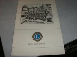 MENU' LIONS CLUB SANTHIA' 1991 - Menu