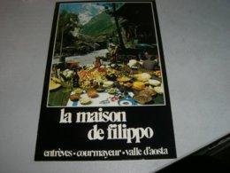 MENU' RISTORANTE LA MAISON DEL FILIPPO COURMAYEUR - Menu