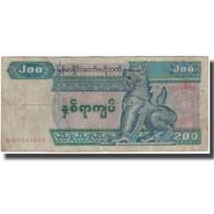Billet, Myanmar, 200 Kyats, KM:78, B+ - Myanmar
