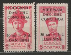 Vietnam Du Nord YT 37-38 (X) MNG - Viêt-Nam