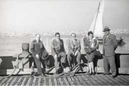 1957 FRAGATA BARCO CANOA TEJO FERRY CACILHAS LISBOA PORTUGAL AMATEUR 35mm ORIGINAL NEGATIVE Not PHOTO No FOTO - Photographica